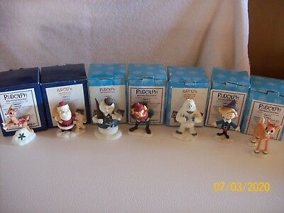 Lot of 7 Enesco Rudolph Red -Nosed Reindeer & The Island of Misfit Toys