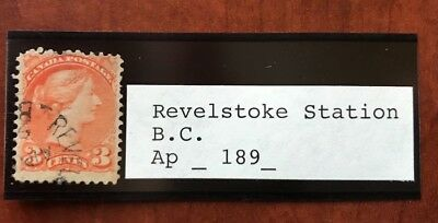Canada Used Stamp BC Postmarks Cancels Revelstoke Station on Scott 37 dated 189?