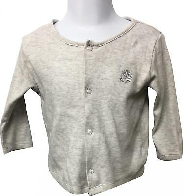 PRE-OWNED Boys M&S Grey Cardigan Size 6-9 Months