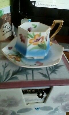 Handpainted Mini Cup And Saucer - Made In Japan