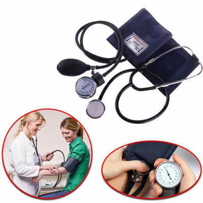 Nylon Cuff Blood Pressure Monitor Manual Stethoscope & Sphygmomanometer BP KIT