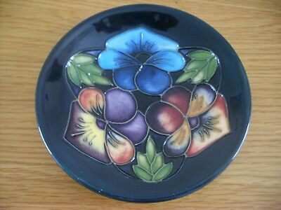 Moorcroft Pin Dish 'triple Choice' Collectors Club 2005 Piece Lovely Example