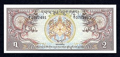 1981 Bhutan Royal Government 2 Ngultrum Unc
