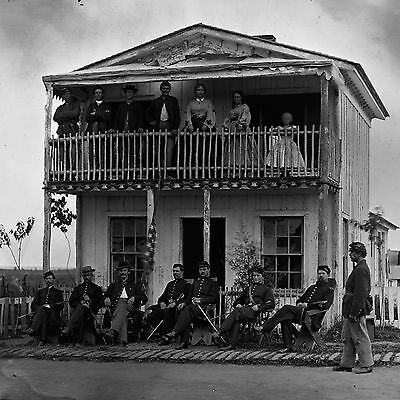 """1865 Photo CIVIL WAR, Soldiers, Officers, Military America Past,12""""x12""""Arlington"""