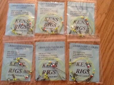 Top Quality 2 Hook Paternoster Rigs X 6