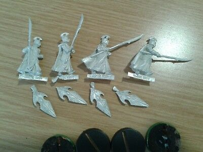 LOTR Lord Of The Rings LAST ALLIANCE ELVEN - ELF SPEARMEN  metal