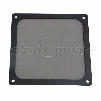 Black Computer Chassis Fan Nylon Magnetic Dust-proof Filter Mesh with Border