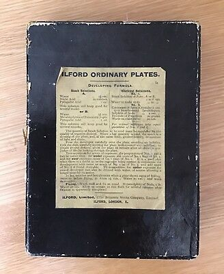 'Ilford Ordinary Plates' Box Of 9 Victorian Glass Negative  Photo Plates