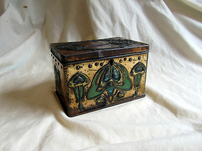 An Antique Art Nouveau Tin Money Box From Edinburgh