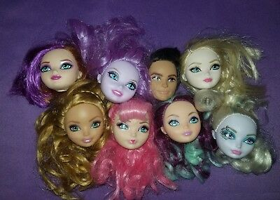 Ever After High Doll Replacement Heads OOAK Reroot Parts Lot As Is #7G EAH