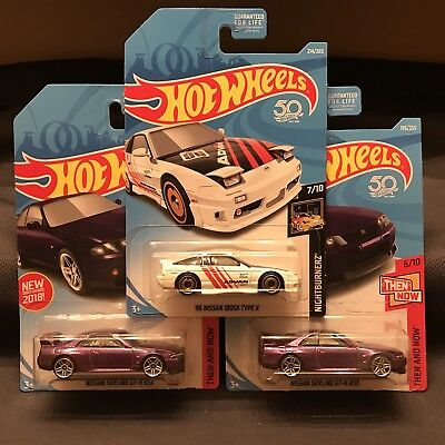 Hot Wheels Nissan Skyline GT-R R33, and 180x * Lot Of 3 * Brand New In Package