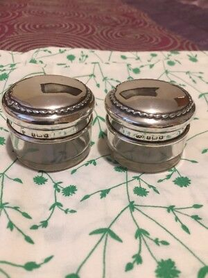 Beautiful Pair Of Antique/Vintage Solid Silver Fully Hallmarked Powder Pots