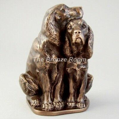 Spaniel Pair - Bronze Sculpture