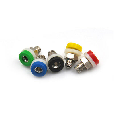 10x  2mm Brass Banana Socket Jack FOR Audio Cables Plug Connector FG