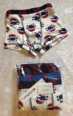 🌺NEW🌺 Ladybird 5 Pairs of Cute Baby Boys Trunks Size 12-18mths 🌺🌺