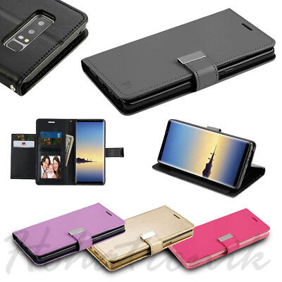 For LG Stylo 4 Cards Holder Fold Leather Wallet Flip Dual Phone Case Cover Pouch