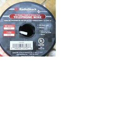 RadioShack Telephone Wire (24 Gauge Solid 2 Twisted Pair 50 foot roll White)