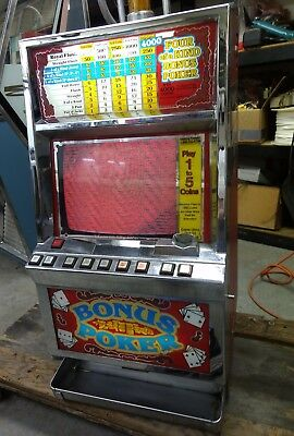 "IGT Video Poker Machine Coin Operated Draw Poker 15"" Monitor"