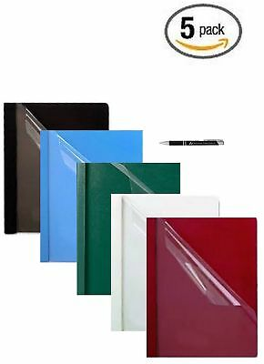 Oxford Premium Clear Front Report Covers, Letter Size, Assorted, 5 Per Pack (...