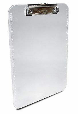 Saunders Plastic Clipboard with Low Profile Clip, Clear, Letter Size, 8.5 inc...