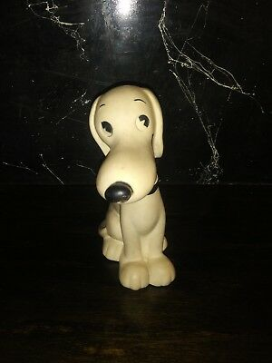 Vintage 1958 Peanuts Snoopy Charlie Browns Dog United Feature Rubber Squeaky Toy