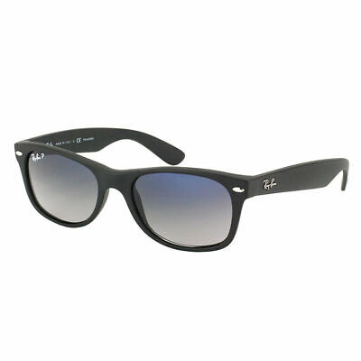 6fd6d97106d Ray Ban New Wayfarer RB 2132 601S78 Matte Black Polarized Sunglasses 52mm