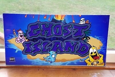 Vintage IGT Ghost Island Slot Machine arcade dome Backglass glass 17 x 9 inch