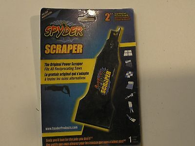 NEW - Spyder Reciprocating Saw Scraper Attachment - 2 inch. - 00138