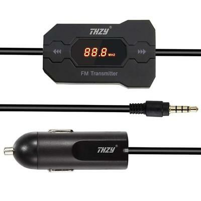THZY Wireless FM Transmitter Radio Car Kit with 3.5mm Audio Plug and Car Charger