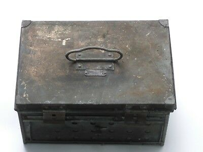 old brass type box, Chas F Thackray LTD