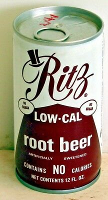 Ritz Low-Cal root beer; Beverage Canners; Miami, FL; steel soda Pop Can