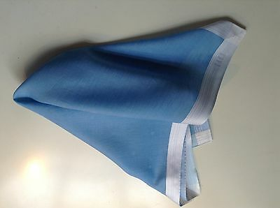 DAKS Men's  handkerchief, pocket square smart for wedding, work 100% Cotton Blue