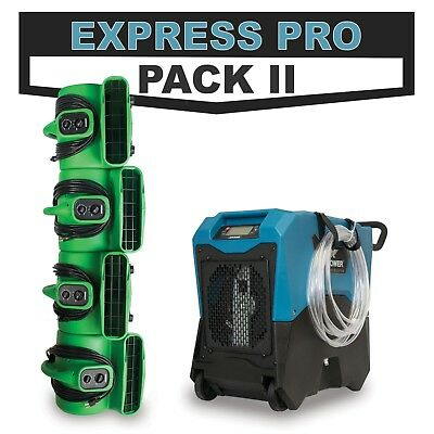 Disaster Restoration EXPRESS PRO PACK II LGR Dehumidifier & Industrial Air Mover