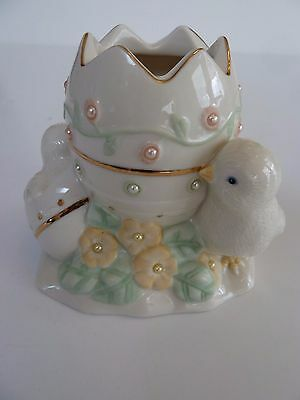 Lenox China Petals & Pearls Chick Bud Vase, Candle Holder Easter