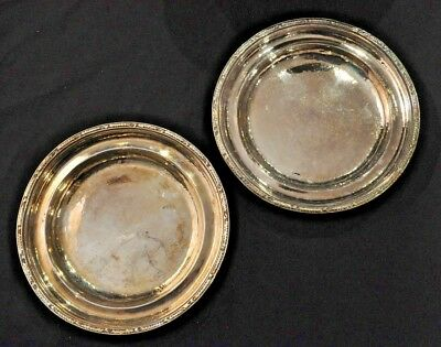 2 VTG Hotel Pierre NYC Gorham Silver Soldered Plates or Shallow Bowls