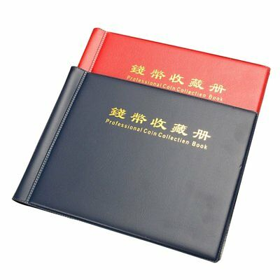 120 Collection Storage Penny Pockets Money Book Album Collecting Coin Holde L1J1