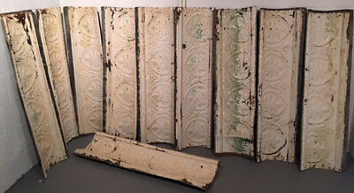 Vintage Tin Crown Molding -Ceiling Tiles Cornice Architectural Salvage