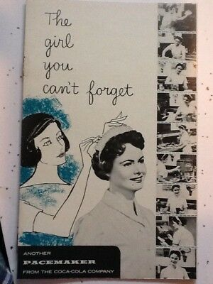 "Coca-Cola Litho Booklet 1957 Mint & Funny ""The Girl You Can't Forget""  LOOK!!"
