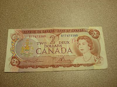 1974 - Canada $2 bank note -Canadian two dollar bill - BY7673380