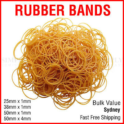Rubber Elastic Bands Thick Red Brown Grocery Money Bulk 25mm 50mm 4mm 500g 100g