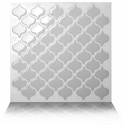 Tic Tac Tiles® - Premium 3D Peel & Stick Wall Tile in Damask Grigio (5 sheets)