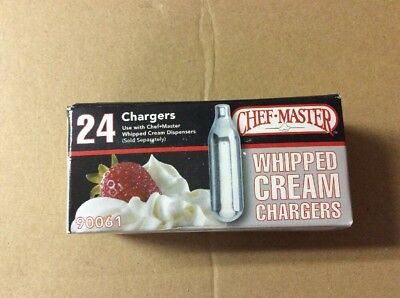 Chef Master Whipped Cream Chargers 24 Pack 90061