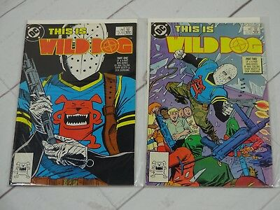 WILD DOG. #1-2 DC Comics 1987 Bagged and Boarded - C3219