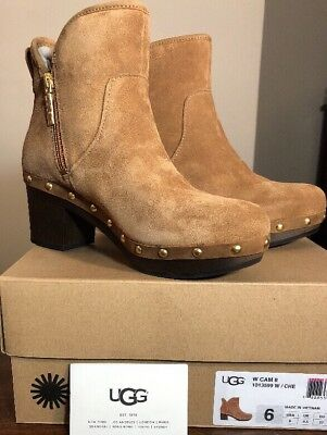 545f8c77379 UGG Cam II Platform Ankle Clog Boots Booties 1013599 Chestnut Women's Size  6 NEW