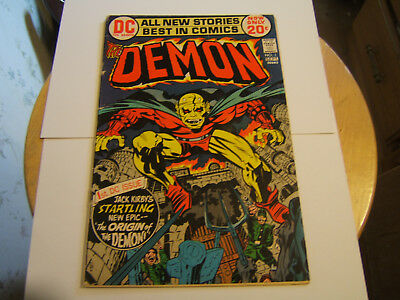 The Demon #1 / VG/Fine / Origin 1st App of Demon / Jack Kirby / Bronze Age/ 1972