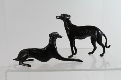 Vintage Metal Cast Grey Hound Art Deco