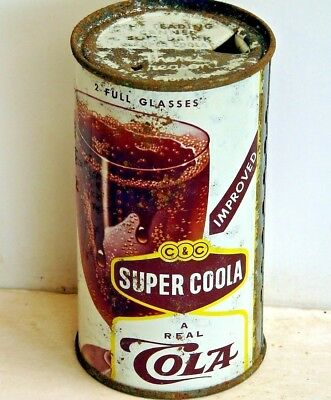 C&C Super Coola Cola; Springfield, IL; flat top / solid top steel soda pop can