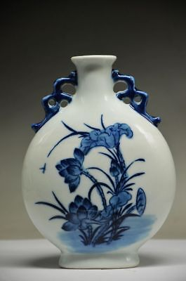 Exquisite Chinese Porcelain Handmade Lotus Flower Vase