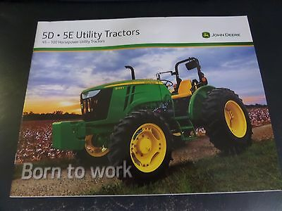 John Deere 5D/5E Utility Tractors 20 Page Brochure New Hard To Find (2)