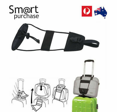 Add Bag Strap Travel Luggage Carry On Bungee Suitcase Adjustable Belt Z